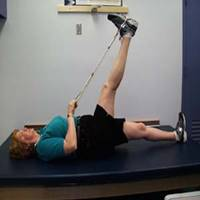 hamstring stretch with 